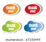 thank you stickers and bubbles | Shutterstock .eps vector #67150495
