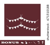holiday flags garlands icon... | Shutterstock .eps vector #671510188