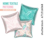 pattern and set of 3 matching... | Shutterstock .eps vector #671516068