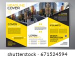 business brochure. flyer design.... | Shutterstock .eps vector #671524594
