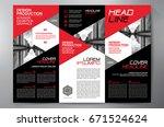business brochure. flyer design.... | Shutterstock .eps vector #671524624