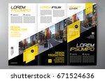 business brochure. flyer design.... | Shutterstock .eps vector #671524636