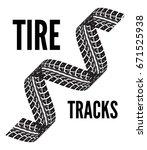 tire tracks vector | Shutterstock .eps vector #671525938