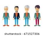 men vector flat design | Shutterstock .eps vector #671527306