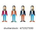 men vector flat design   Shutterstock .eps vector #671527330