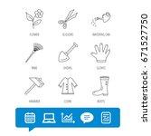 scissors  hammer and gloves... | Shutterstock .eps vector #671527750