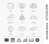 croissant  pretzel and bread... | Shutterstock .eps vector #671531398