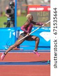 Small photo of STOCKHOLM, SWEDEN - JUNE 18, 2017: Track and field atletics in IAAF Diamond leauge Bauhaus Galan at Stockholm stadion.