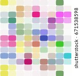 abstract colorful mosaic... | Shutterstock .eps vector #671538598