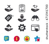 helping hands icons. travel...