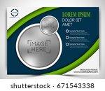 vector business flyer.   Shutterstock .eps vector #671543338