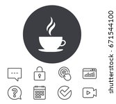 coffee cup sign icon. hot... | Shutterstock .eps vector #671544100