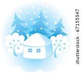 decorative winter background | Shutterstock .eps vector #67155547