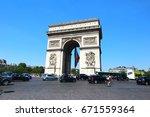 paris   france    june 18 2017  ...   Shutterstock . vector #671559364