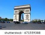 paris   france    june 18 2017  ...   Shutterstock . vector #671559388