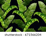 beautiful seamless vector... | Shutterstock .eps vector #671566204