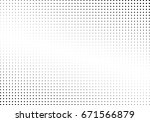 abstract halftone dotted... | Shutterstock .eps vector #671566879