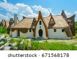 fairytale clay castle of... | Shutterstock . vector #671568178