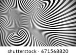 twisted stripes optical... | Shutterstock . vector #671568820