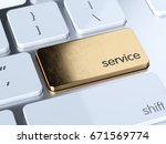 golden service sign button on... | Shutterstock . vector #671569774