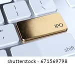 golden ipo  initial public... | Shutterstock . vector #671569798