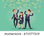vector illustration of happy... | Shutterstock .eps vector #671577319