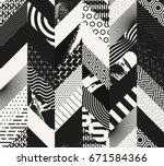 abstract seamless grunge... | Shutterstock .eps vector #671584366