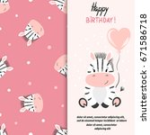 happy birthday greeting card... | Shutterstock .eps vector #671586718
