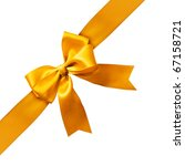 big gold holiday bow on white... | Shutterstock . vector #67158721