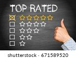 top rated   five stars with... | Shutterstock . vector #671589520
