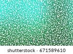 light green vector of small... | Shutterstock .eps vector #671589610