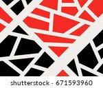 geometric abstract abstract... | Shutterstock .eps vector #671593960