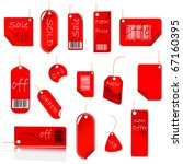 new red price tag set. vector...   Shutterstock .eps vector #67160395