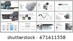 blue and gray elements for... | Shutterstock .eps vector #671611558