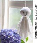 japanese rain doll teru teru...   Shutterstock . vector #671611939