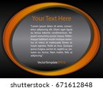 template black  orange and... | Shutterstock .eps vector #671612848