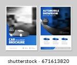 car dealership showroom leaflet ... | Shutterstock .eps vector #671613820