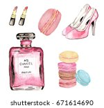 sweet and fabulous macaroon and ... | Shutterstock . vector #671614690