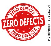 zero defects sign or stamp on... | Shutterstock .eps vector #671621704