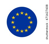 european union flag button | Shutterstock .eps vector #671627608