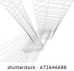 abstract architecture | Shutterstock .eps vector #671646688