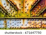 Rainbow Rust On A Bridge Joint
