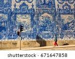 porto  portugal   may 7  2017   ... | Shutterstock . vector #671647858