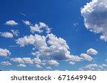 clouds in the sky | Shutterstock . vector #671649940