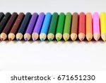 colorful pencils | Shutterstock . vector #671651230