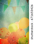 many colorful baloons in the... | Shutterstock . vector #671653426