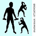 fitness and body builder man... | Shutterstock .eps vector #671654368