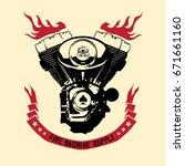twin engine machine badge...   Shutterstock .eps vector #671661160