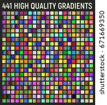 set of 441 gradients. vector... | Shutterstock .eps vector #671669350
