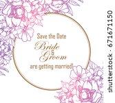 romantic invitation. wedding ... | Shutterstock .eps vector #671671150
